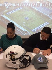 Arthur Gilmore of North Plainfield signs with Central Connecticut
