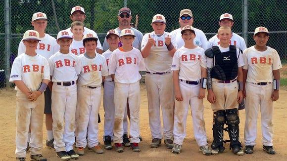 The Raleigh Baseball Institute (RBI) 11 and under baseball team.