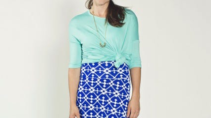 Maxi skirts transition easily from summer to fall by adding a blouse or jacket on top.