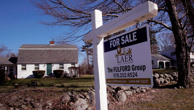 A home is listed for sale in Derry N.H. On Tuesday, May 29, the Standard & Poor's/Case-Shiller 20-city home price index for March is released.