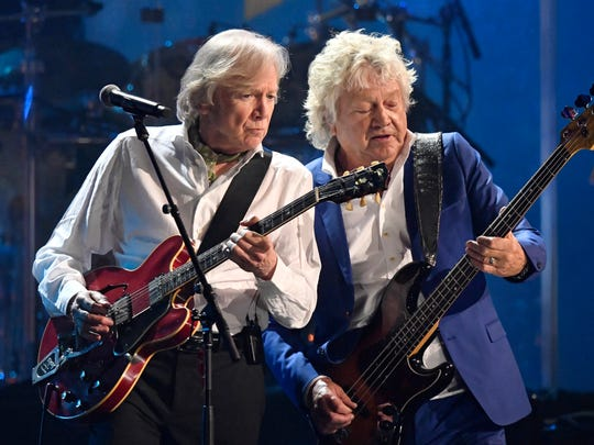 Justin Hayward, left, and John Lodge of the Moody Blues.