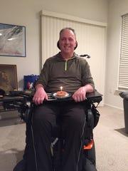 David Kettering, 58, of Stewartstown was paralyzed