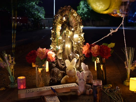 Friends and family built a memorial for Jonah Frausto,