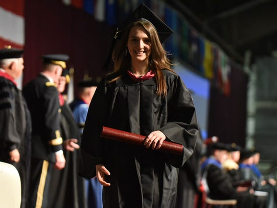 Scene from Saturday's Norwich University commencement.