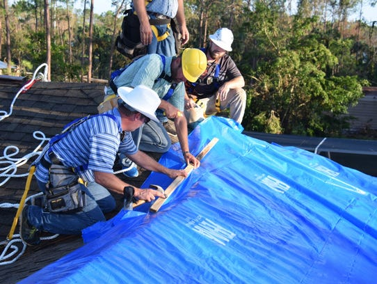 Operation Blue Roof is managed by the U.S. Army Corps