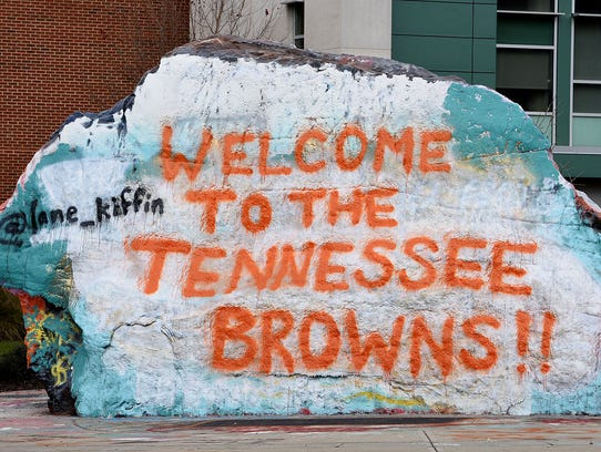 The Rock on the UTK campus the morning the news broke