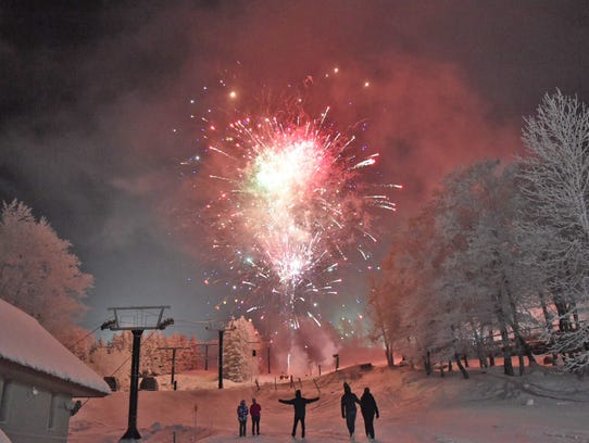 Fireworks at Beech Mountain Resort.