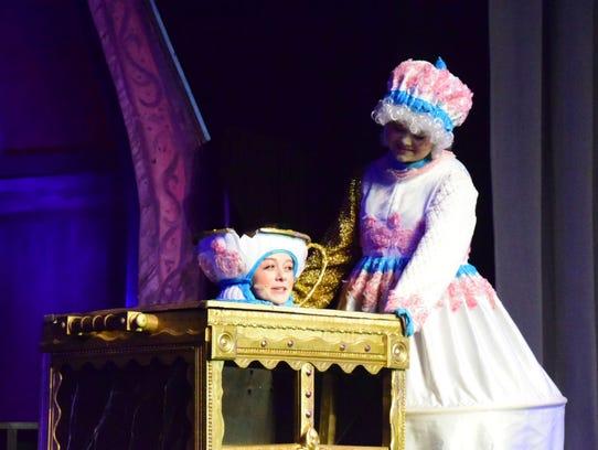 Chip (Abby Breland) and Mrs. Potts (Hanna Hatmaker)