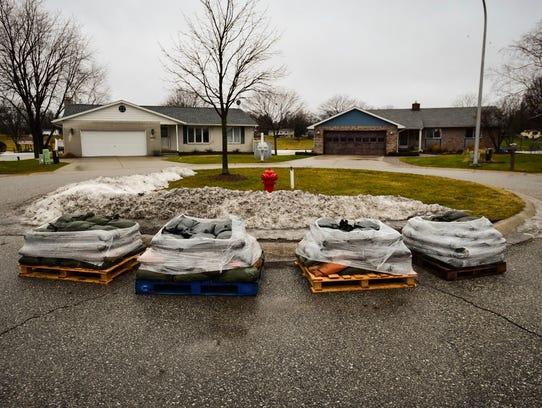 Sandbags were distributed to some Port Huron neighbors