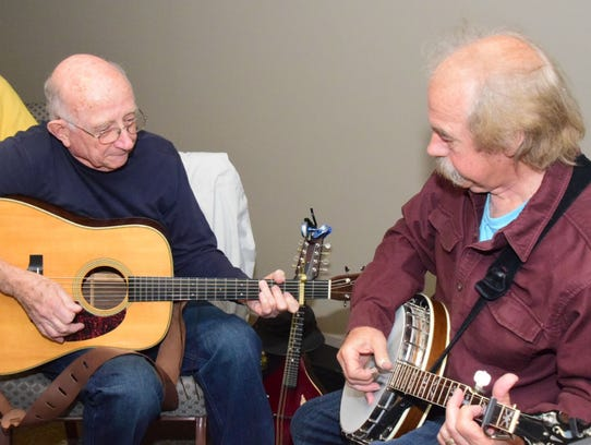 Andy Francis on guitar and Bob Young on banjo with