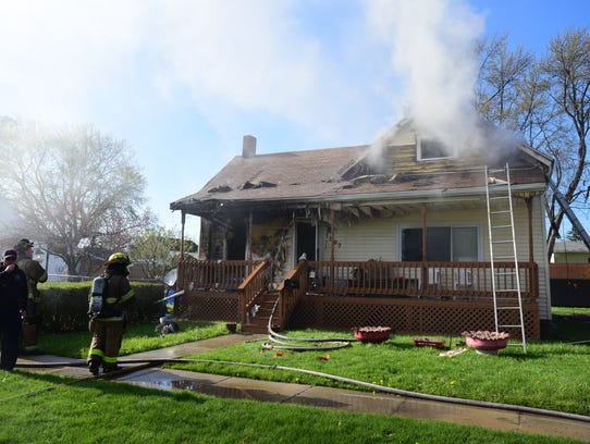Firefighters are investigating a fire that damaged