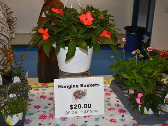 Hanging baskets are a popular Mother's Day gift.