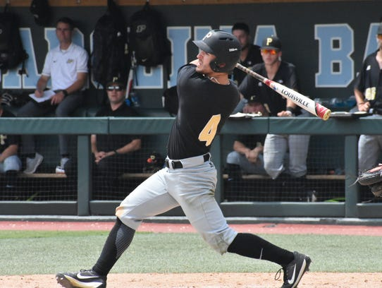 Purdue's Skyler Hunter drove in two runs on two hits