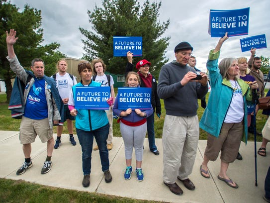 Supporters of Democratic presidential candidate Vermont