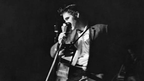 Elvis Presley performs in Jacksonville on August 10,