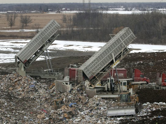 Garbage from Toronto is dumped at Republic Services