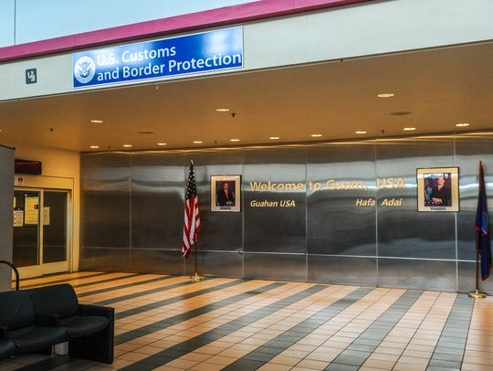 The entrance of the U.S. Customs and Border Protection