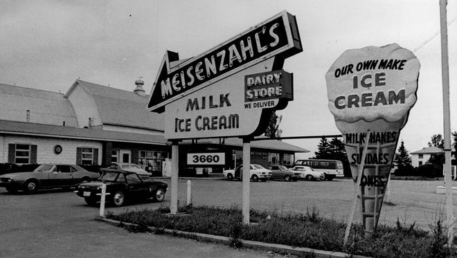 Meisenzahl Dairy on West Henrietta Road was once the largest independent dairy in the area. A retail store was well-known for its homemade ice cream.