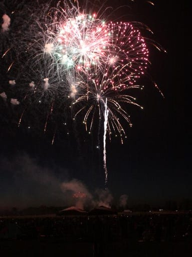 The annual July 4th fireworks show at Ft. Campbell drew an estimated crowd of 20,000 plus.