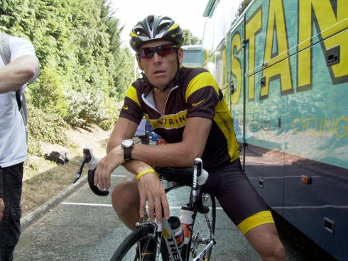 Lance Armstrong is the subject of 'The Armstrong Lie,' which documents Armstrong's return to the Tour de France in 2009.
