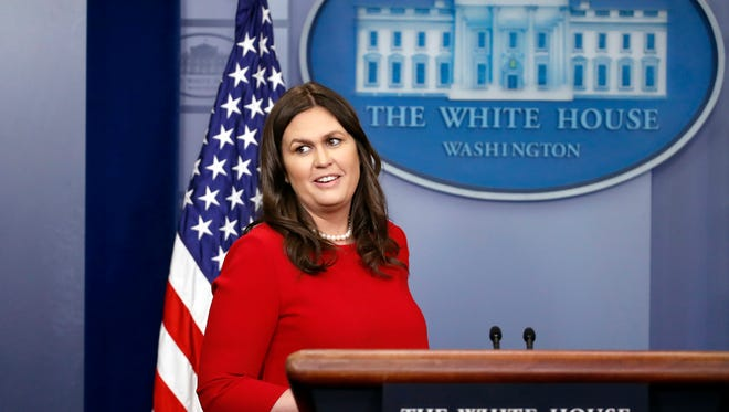 """In keeping with tradition, press secretary Sarah Sanders will represent the administration"" at the head table for this year's White House Correspondents' Dinner."