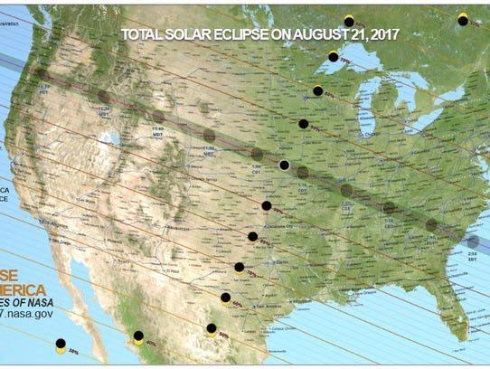 A solar eclipse will cross the U.S. on Aug. 21. The