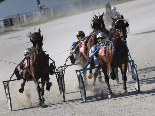 Harness racing took place at the Crawford County Fair