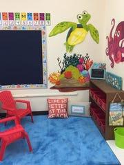 Lauren Trovatten decided on an ocean theme for her