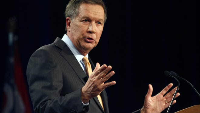 In this file photo, Ohio Gov. John Kasich delivers his State of the State address. Senate Republicans on Monday generally rejected the tax plan proposed in Kasich's budget.