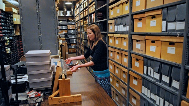 Stearns History Museum Archivist Sarah Warmka talks about how mylar is used to protect some documents at the museum.