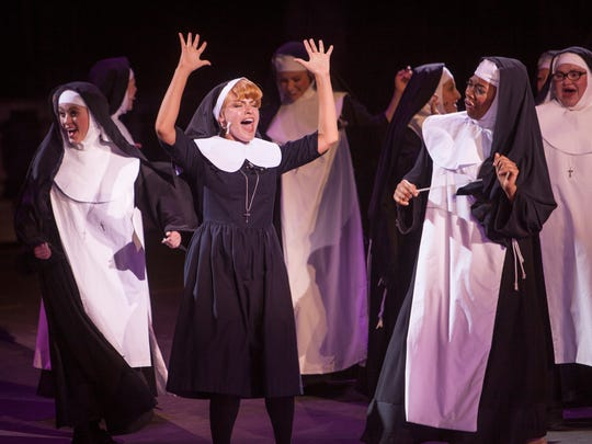 Performers at Tuacahn rehearse Sister Act Thursday, July 30, 2015. The show begins July 31, and will run through October 15.