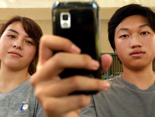 california school social media selfie