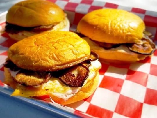 Shiitake Mushroom, Egg & Cheese sandwich from Marty's