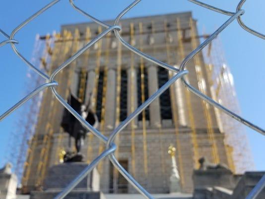 Indiana War Memorial undergoes repairs
