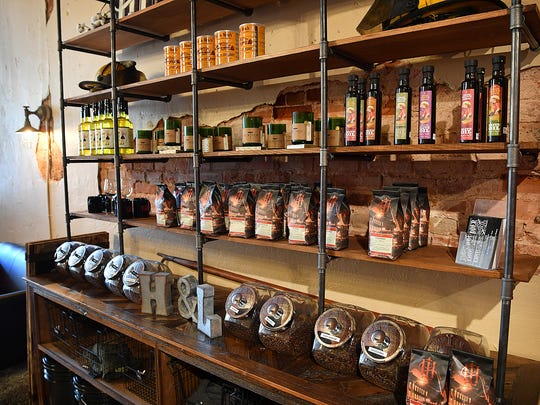 Hook & Ladder Coffees & Winery offers samples of some of their 10 different varieties of artisanal roasted coffees but is not a coffee shop. Opening Friday, the business also serves more than 20 wines from Texas and California.