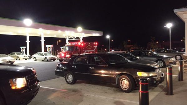 County police are responding to a shooting at the Royal Farms along U.S. 40 Thursday night.