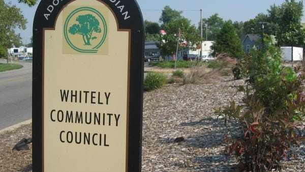 Whitely Community Council sign
