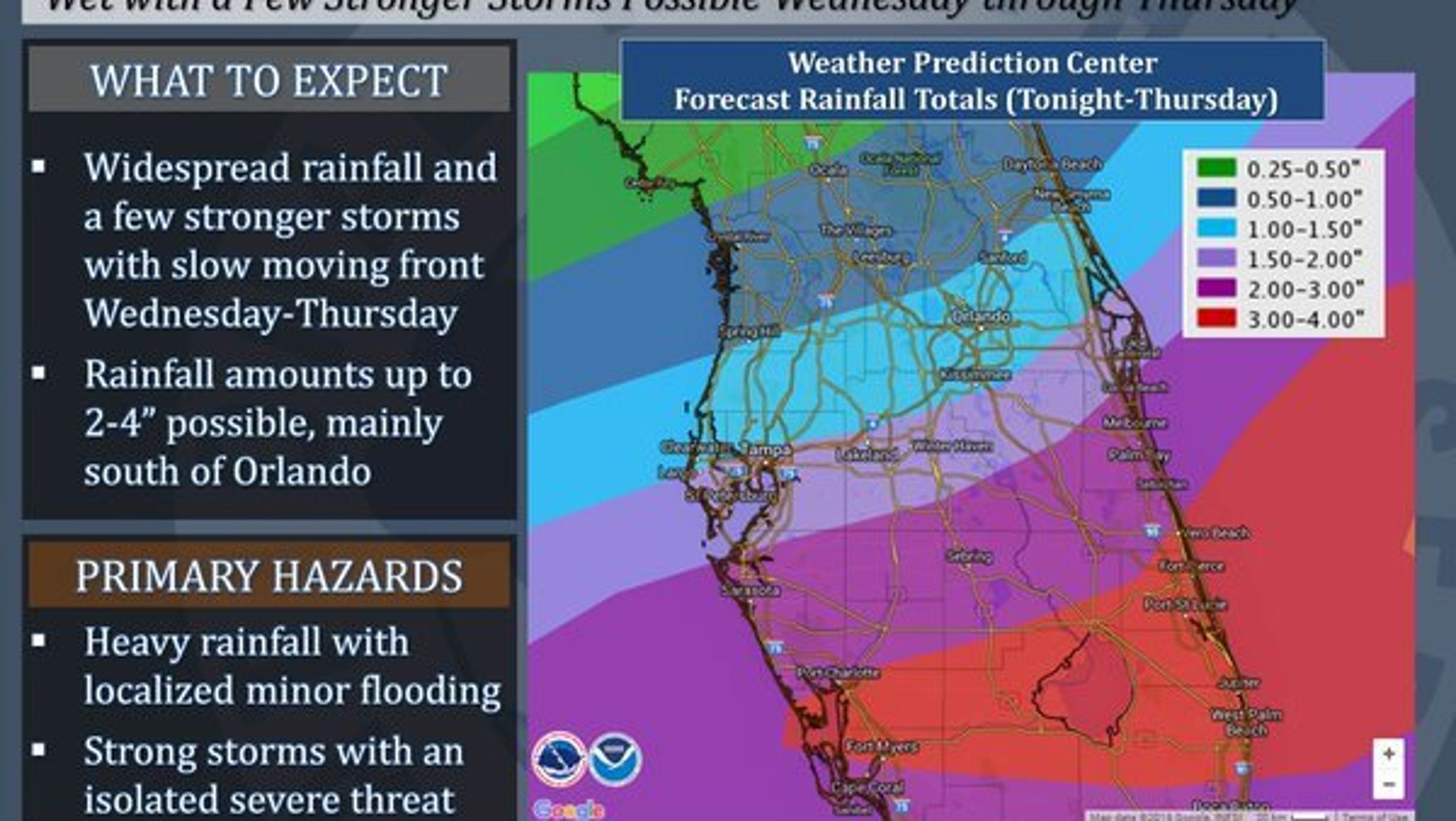 Showers Storms Drench Treasure Coast All Day Wednesday