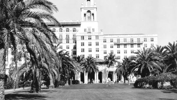 """A fairway of The Breakers' golf course in 1955, when Bessie Fenn still was """"guardian of the golf course."""""""