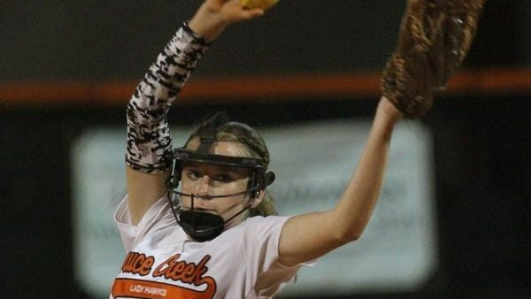 Ashley Appell tossed four no-hitters during the 2016 season, leading the area with 241 strikeouts for regional finalist Spruce Creek.