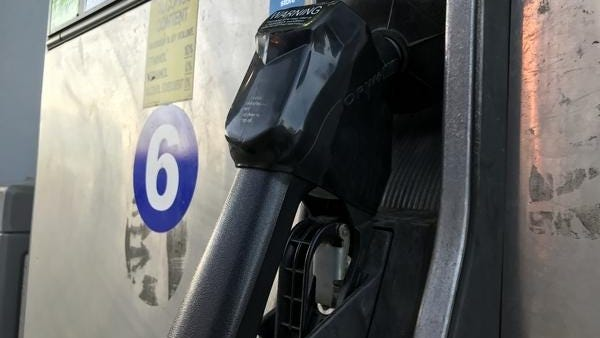 The average price for a gallon of regular unleaded gasoline sold in Massachusetts is $2.10, according to AAA Northeast.