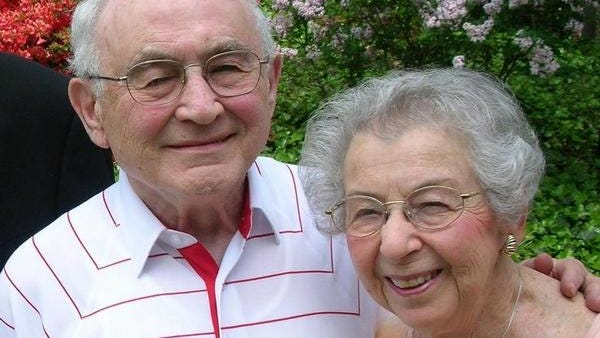 Ethel Ellis is pictured with her husband, Sheldon, before he passed in 2013. The couple resided in Hillsdale before moving to Ann Arbor in 1990.