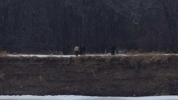 A body was found in a wooded area near the Raccoon River at Water Works Park shortly after 3:30 p.m. Friday.