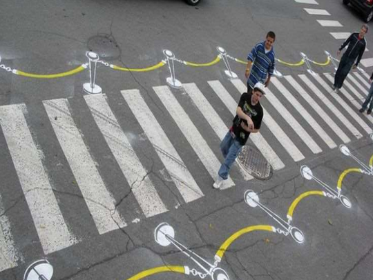 Art Rte would paint artistic crosswalks at six key