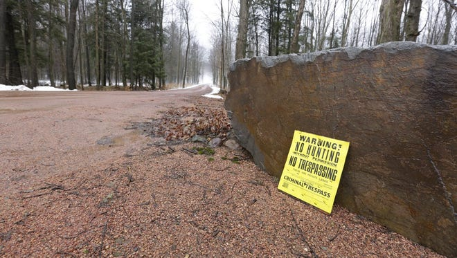 A long gravel driveway leads down to the home of Mark Sturm and Patricia Sturm, 8400 North Lane in the town of Berlin. Mark Sturm has been accused of homicide in the death of his wife, Patricia.