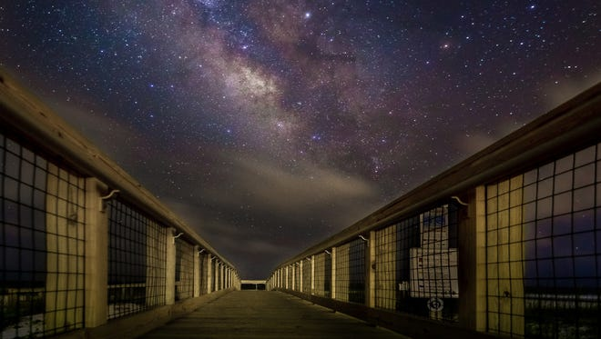 A photo by Daniel Haefner of the Wide Angle Photo Club shows the Milky Way galaxy from Pensacola Beach in June. The club has monthly photo shoots with various themes that coincide with the meeting topic.