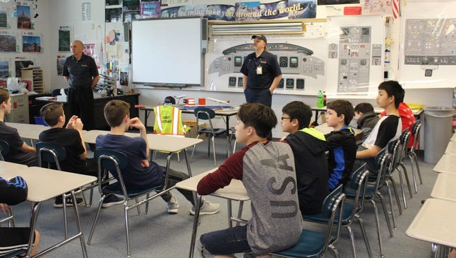 D.C. Everest Middle School students participate in a discussion about careers in this 2018 file photo.