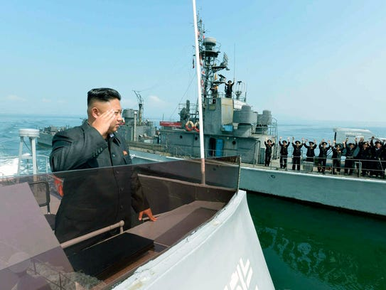 An undated file picture released by Rodong Sinmun,