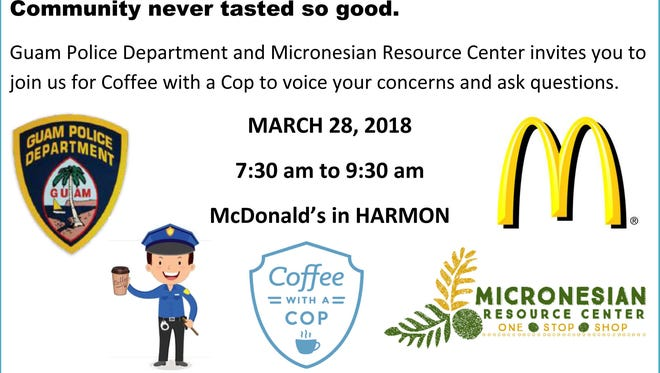 Coffee with a Cop, March 28, 2018.