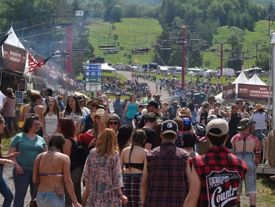A scene from the 2017 Taste of Country Music Festival at Hunter Mountain.